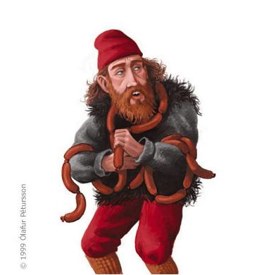 Bjúgnakrækir (Sausage Swiper) the 9th Yule Lad