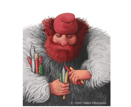 Kertasníkir (Candle Stealer) the 13th Yule Lad