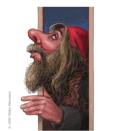Gáttaþefur (Door Sniffer) is the 11th Yule Lad
