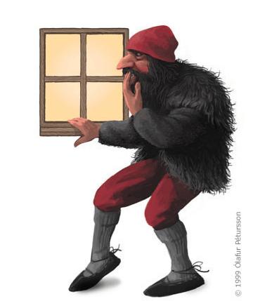 Gluggagægir (Window Peeper) the 10th Yule Lad